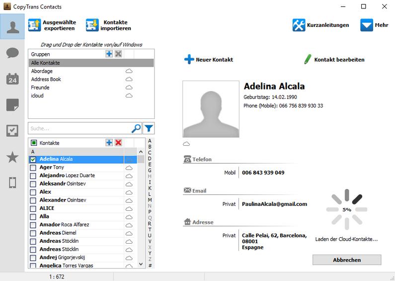 iPhone-Kontakte auf iPhone XS übertragen