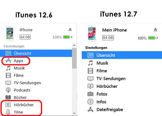 iTunes arbeitet nicht mehr mit Apps