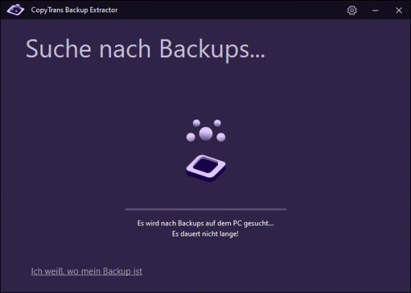 nach Backup suchen
