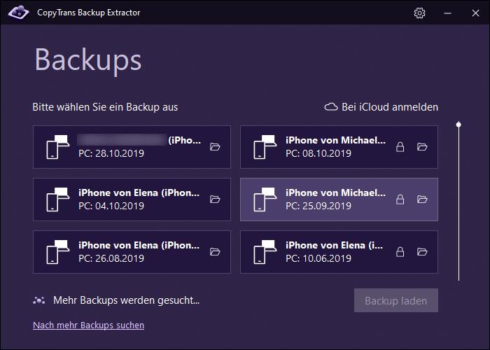 iOS Sicherungen am PC