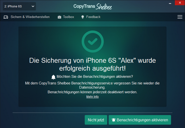 iPhone Backup Passwort vergessen