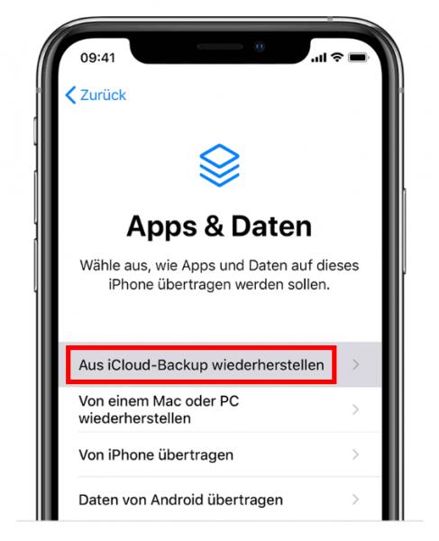 iPhone verloren, mit iCloud Backup