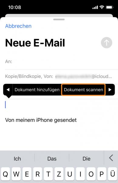 Dokumentscannen und als email versenden