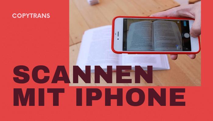 Scannen mit iPhone