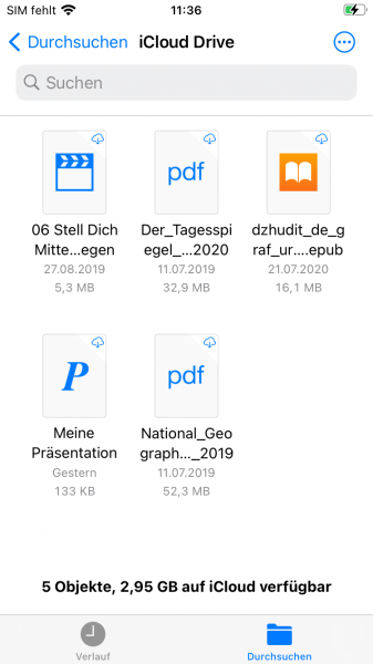 Dateien App