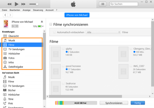 Dateien von PC auf iPad