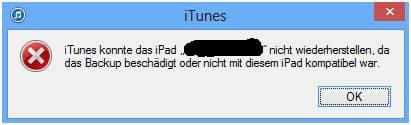 WhatsApp Backup mit iTunes geht nicht