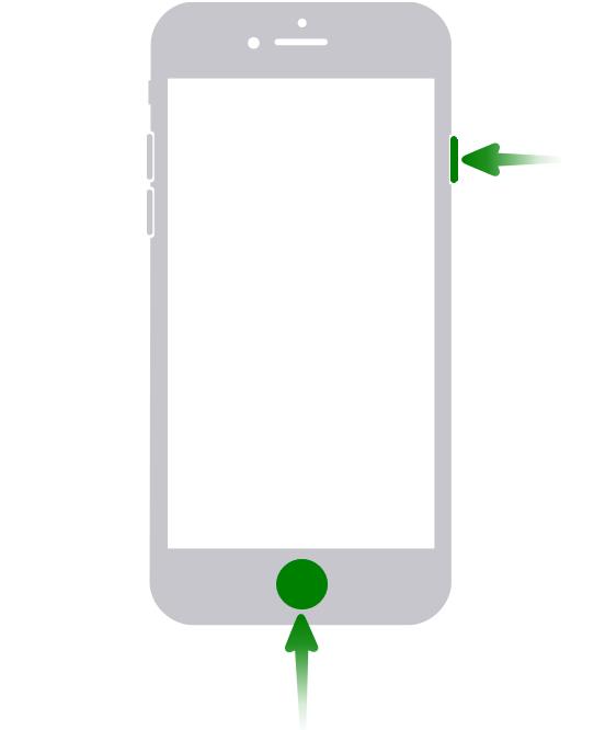 Screenshot iPhone 8