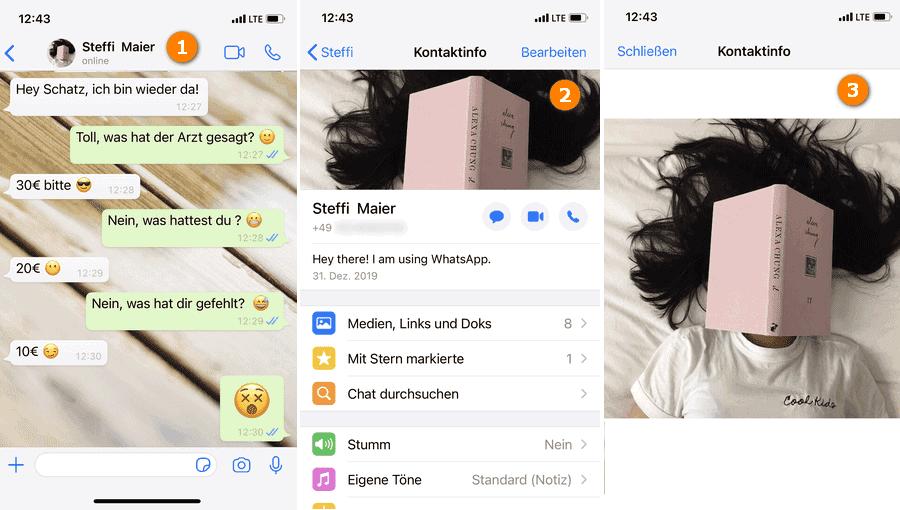 WhatsApp Profilbild speichern