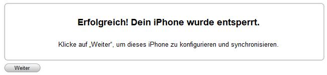 iPhone mit iTunes erfolgreich aktiviert