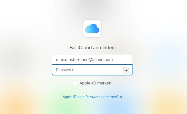 iPhone aktivieren - bei iCloud anmelden