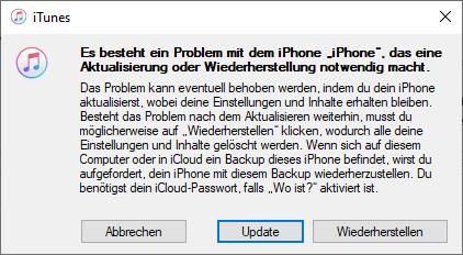 iPad deaktiviert: wieder aktivieren