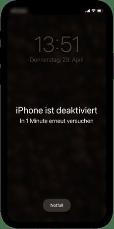 iPhone Code vergessen: Entsperr-Versuche