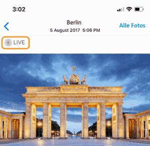 iPhone Live Bilder finden und sie dort anzeigen