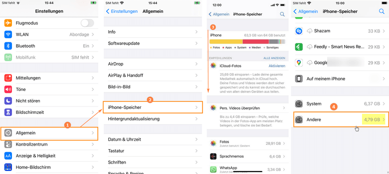 iPhone Speicher andere