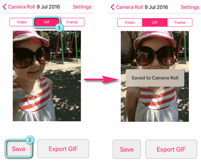 iOS Live Foto GIF auf iPhone umwandeln