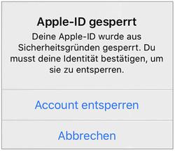 Apple ID Passwort gehackt - was tun