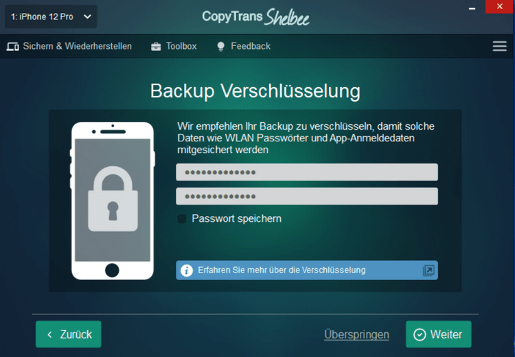Handy gehackt iPhone - Backup verschlüsseln