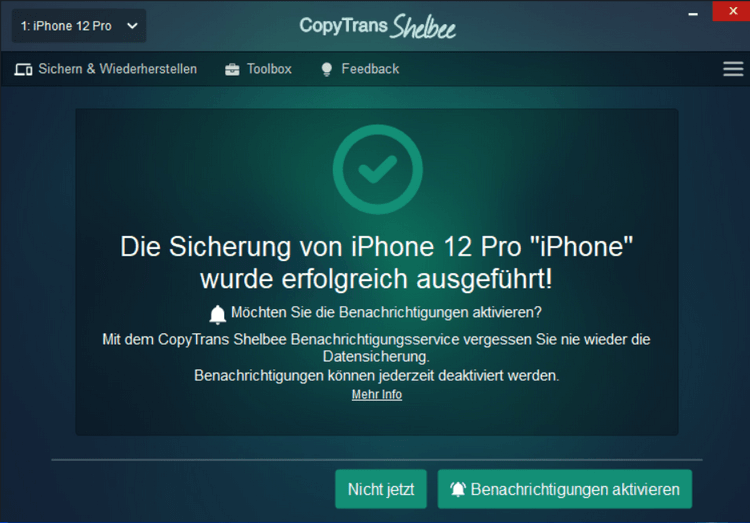 Apple Security iPhone gehackt - erfolgreiches Backup