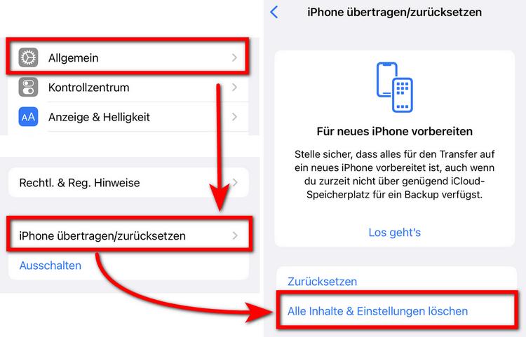 Apple ID wurde gehackt - iPhone zurücksetzen